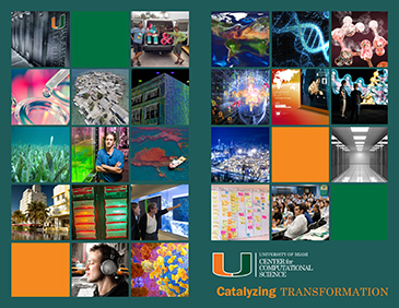 University of Miami Center for Computational Science brochure outside
