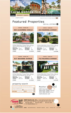 Sample Property Search Page