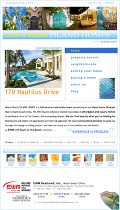 Sample Home Page Design