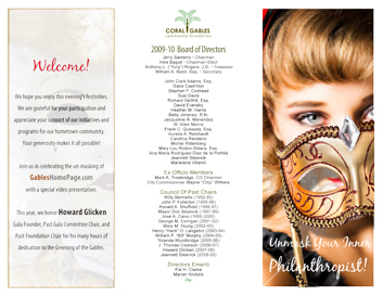 Coral Gables Community Foundation Masquerade Ball event-specific brochure side 1 of 2