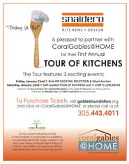 11x14 Promotional sign for CoralGables@HOME 2009 Kitchen Tour featuring Snaidero as sponsor