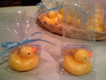 Rubber Duckie Baby Shower Favor Soaps with Seasame Street Rubber Duckie Song Lyrics