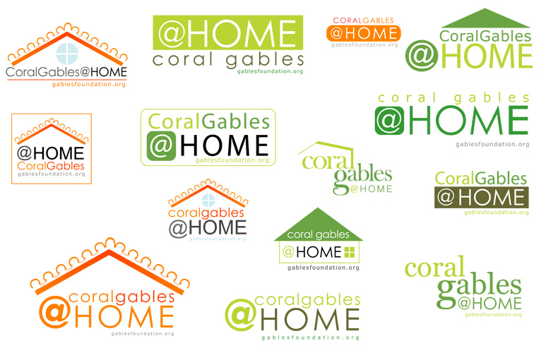 Coral Gables at Home logo samples