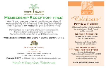 Coral Gables Community Foundation membership reception