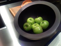 green apples, Bulthaup showroom, Miami Design District